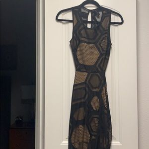 Lace black dress, midi